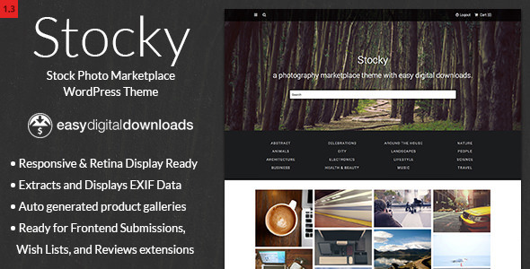Stocky – A Stock Photography Marketplace Theme