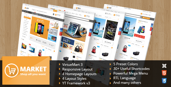 SJ Market – Responsive Multipurpose VirtueMart Theme