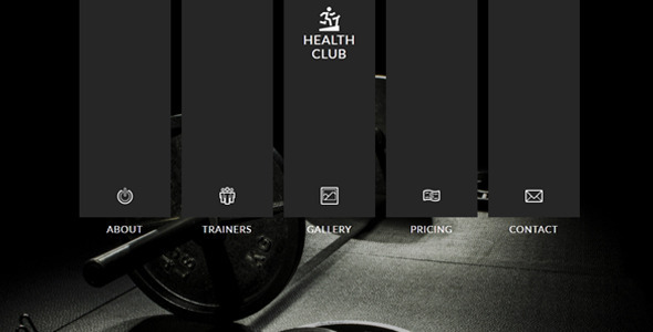 Health Club Muse Template - Creative Muse Templates