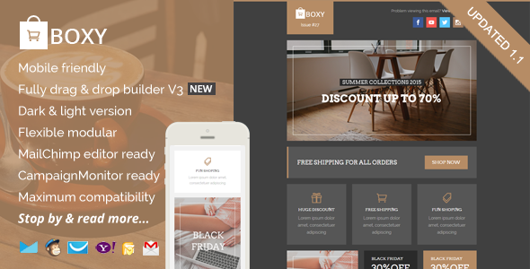 Boxy, eCommerce Email Template + Builder Access by saputrad ...