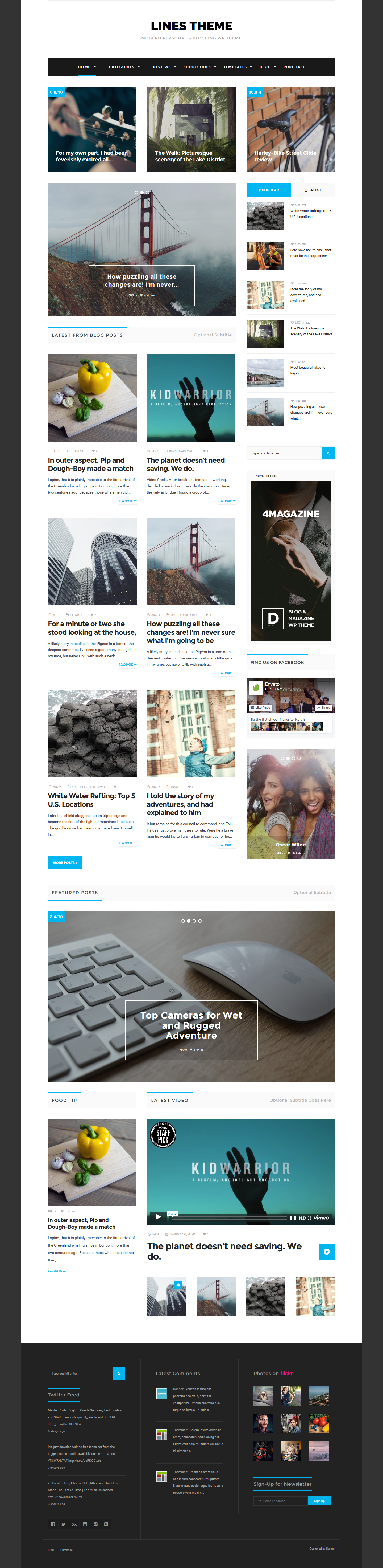 Lines - Elegant Personal / News WordPress Theme by Dannci | ThemeForest