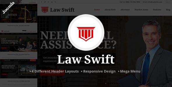 Law Swift – Lawyer & Notary Joomla Template