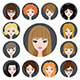 Set of Girls - GraphicRiver Item for Sale