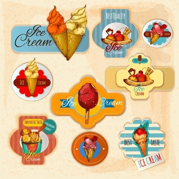 Ice Cream Labels