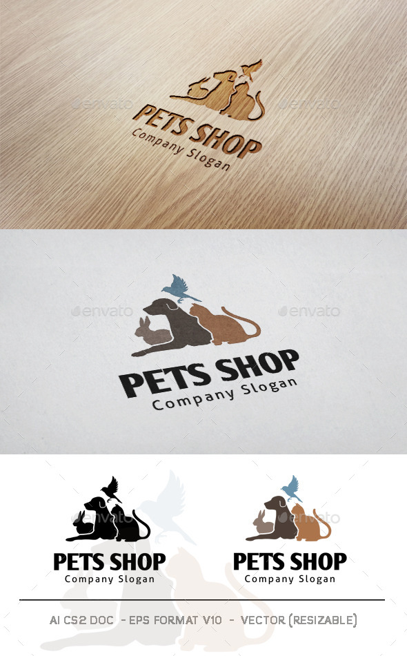 Pets Shop Logo - Animals Logo Templates
