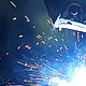 Welder Weld Metal in an Industrial Plant - VideoHive Item for Sale