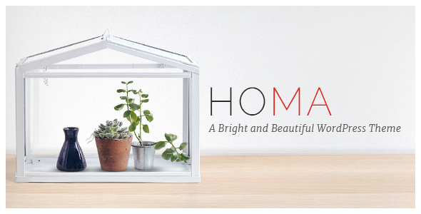 Homa – A Bright and Beautiful WordPress Theme