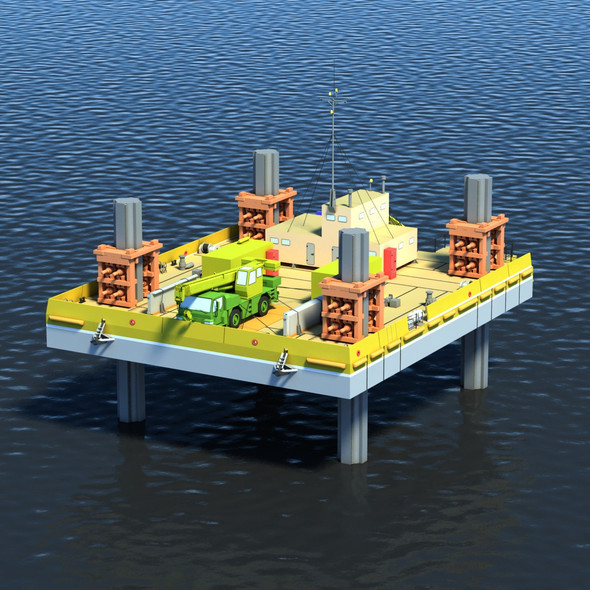 Drilling Platform - 3DOcean Item for Sale
