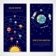 Solar System and Space Exploration Banners - GraphicRiver Item for Sale
