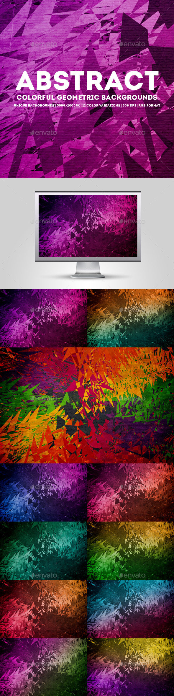 Abstract Colorful Geometric Backgrounds