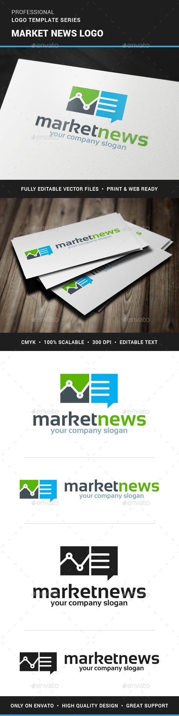 Market News Logo Template - Symbols Logo Templates