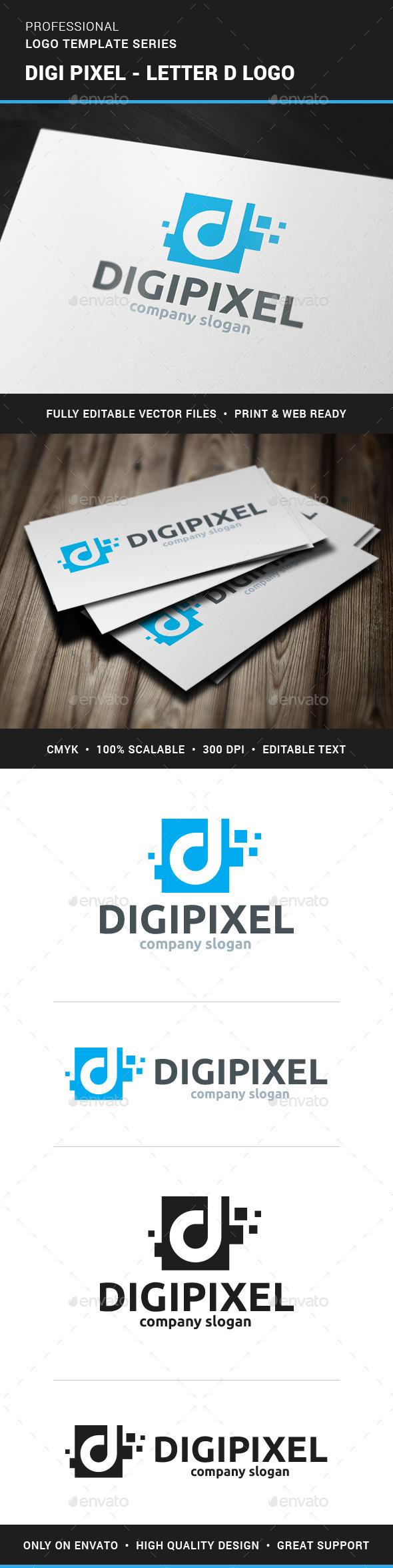 Digi Pixel - Letter D Logo - Letters Logo Templates