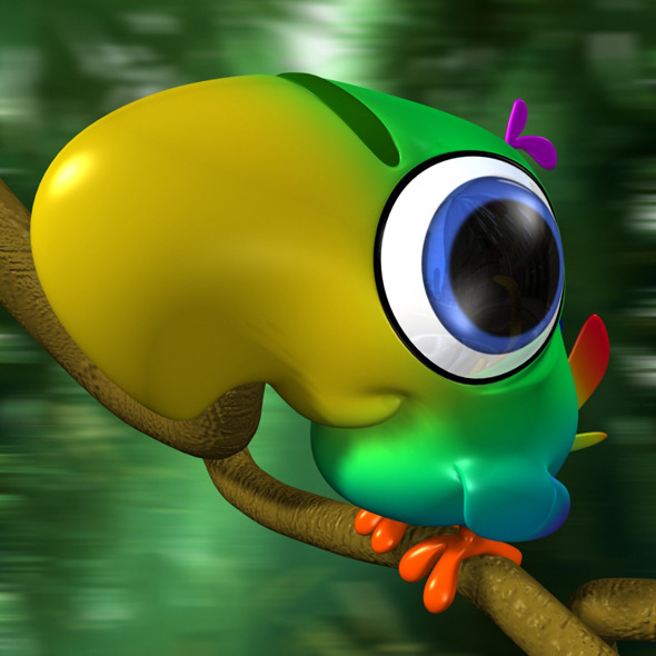 Cartoon Parrot Rigged - 3DOcean Item for Sale