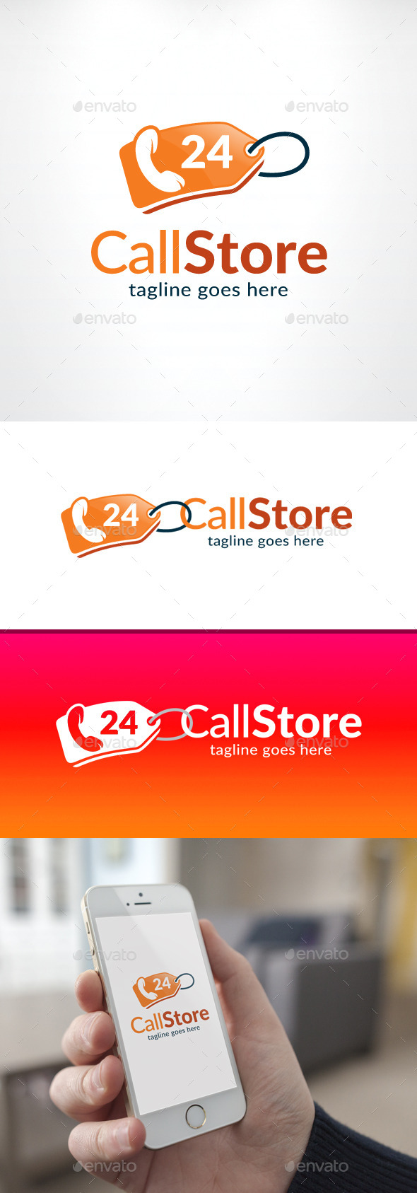 Call Store 24 Hours Logo - Objects Logo Templates