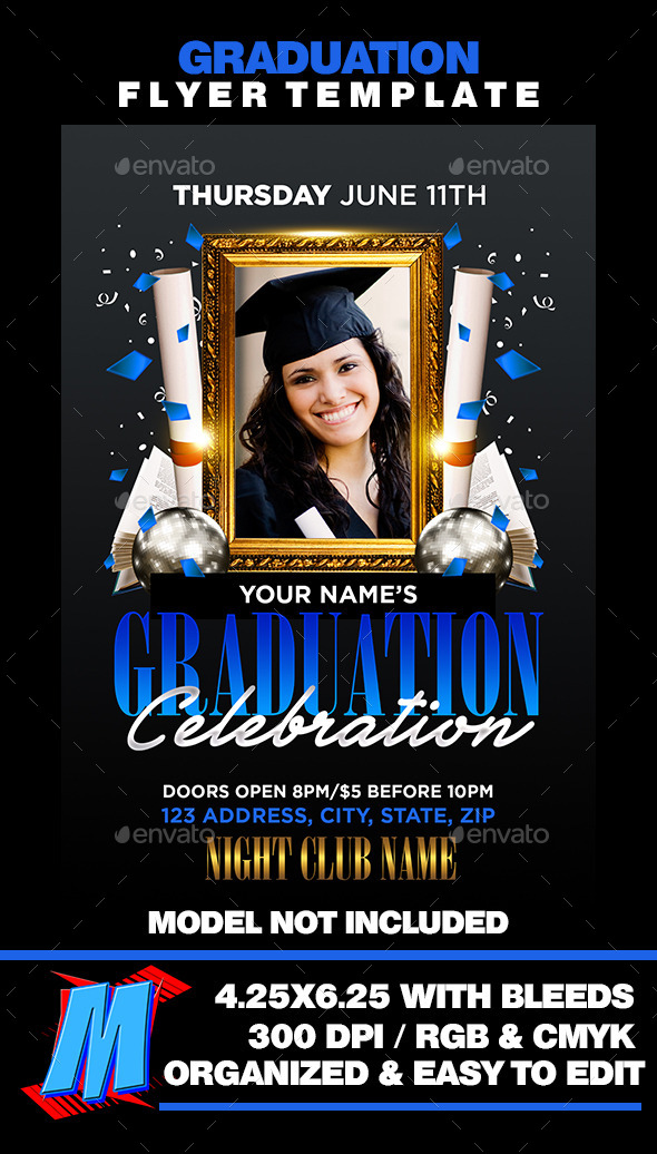 Graduation Flyer Template   Clubs U0026 Parties Events