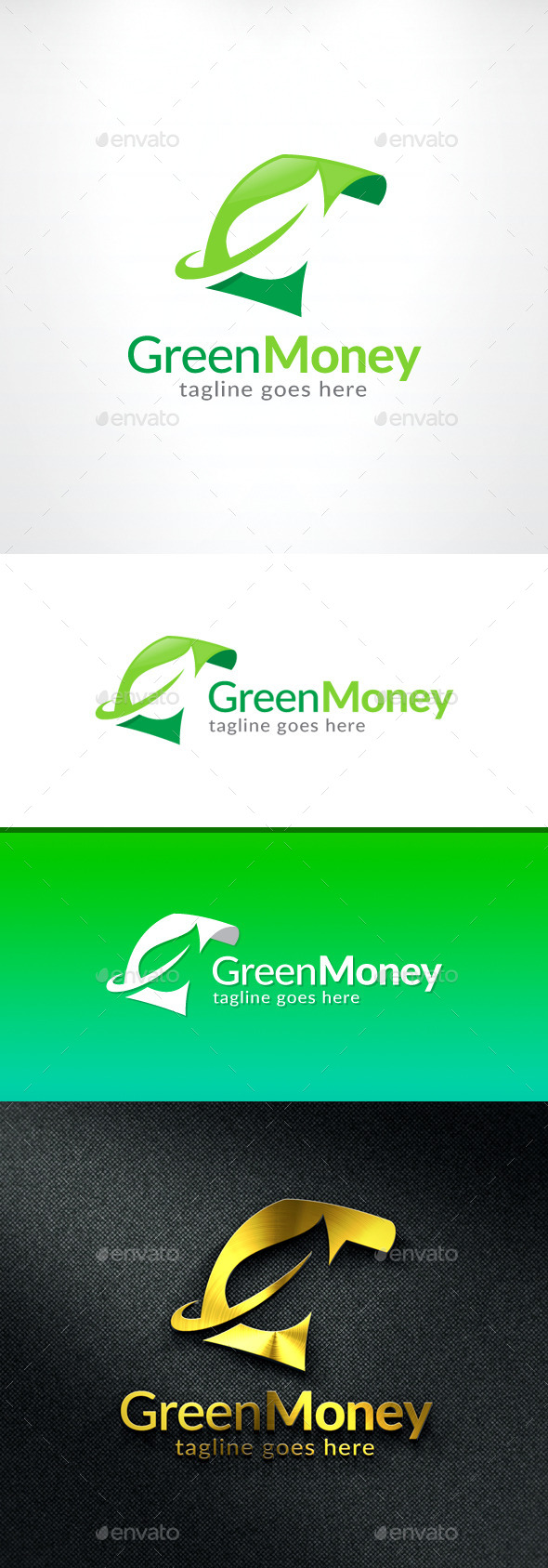 Green Money Logo - Objects Logo Templates