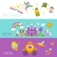 Fairy Tale Banner Set - GraphicRiver Item for Sale