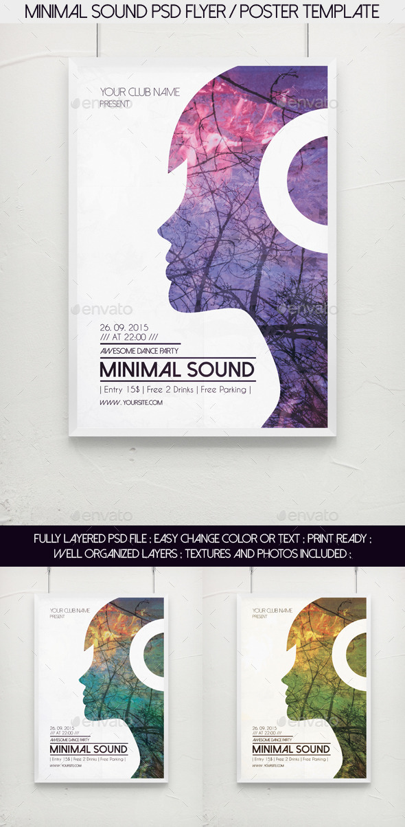 Minimal Sound PSD Flyer / Poster Template by djjeep | GraphicRiver