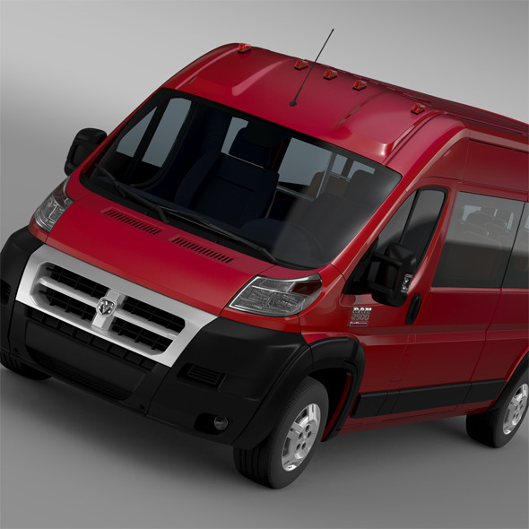 Ram Promaster Window Van 2500 HR 159WB 2015 - 3DOcean Item for Sale