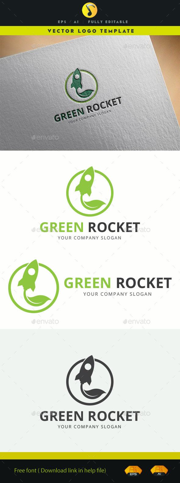 Green Rocket - Objects Logo Templates
