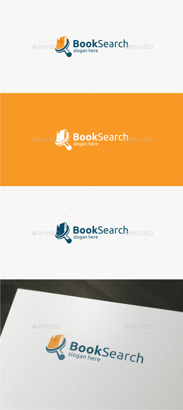 Book Search - Logo Template - Objects Logo Templates