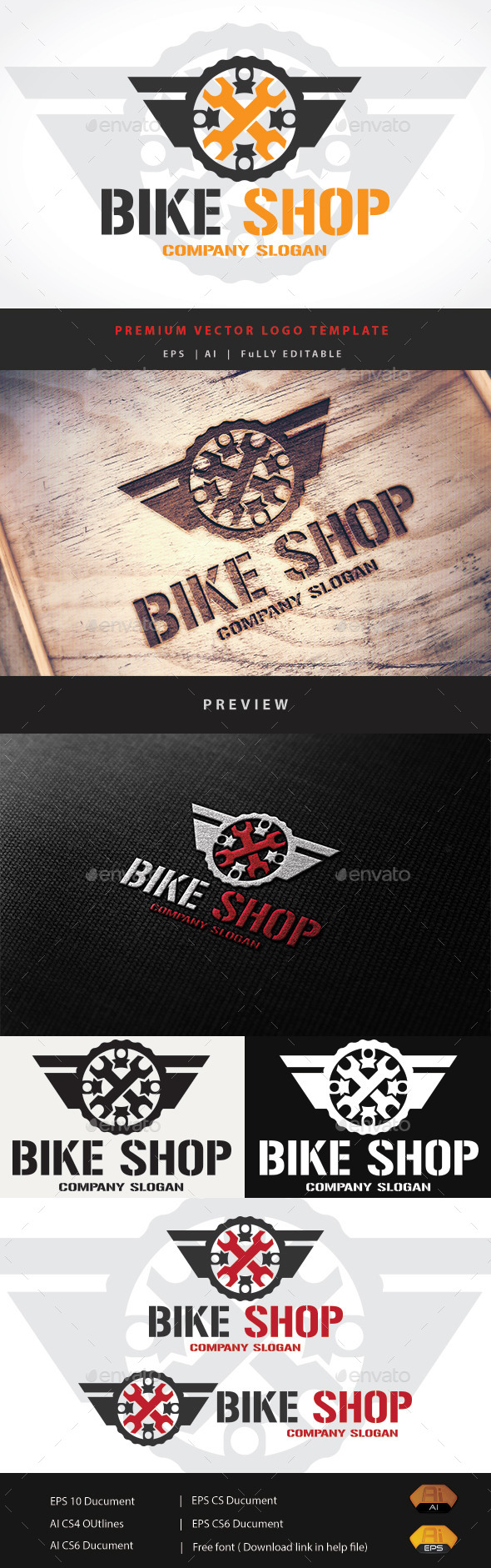 Bike Shop - Objects Logo Templates