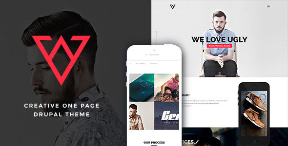 Viska – Creative One Page Drupal Theme