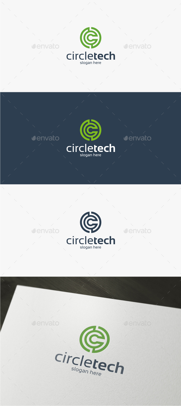 Circle Tech - Logo Template - Letters Logo Templates