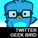 Twitter Geek Bird - GraphicRiver Item for Sale
