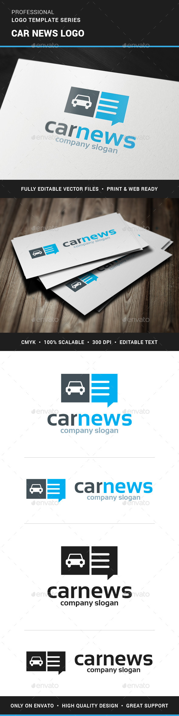 Car News Logo Template - Objects Logo Templates