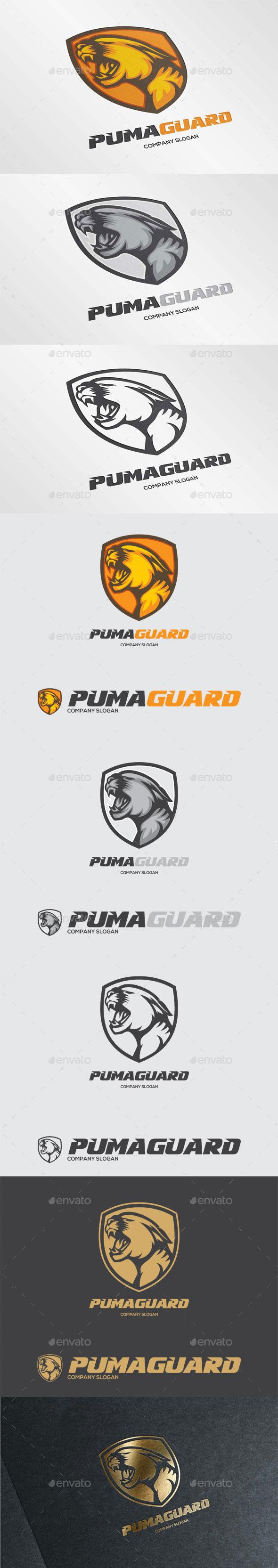 Puma Guard Logo Template - Animals Logo Templates