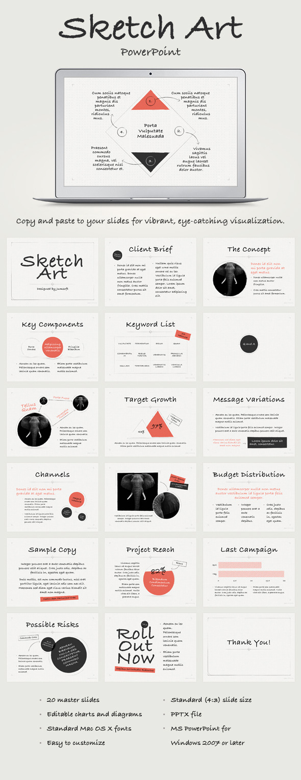 Sketch art powerpoint template by jumsoft graphicriver sketch art powerpoint template toneelgroepblik Choice Image