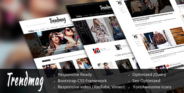 Trend Mag - HTML5 Magazine Template - Corporate Site Templates
