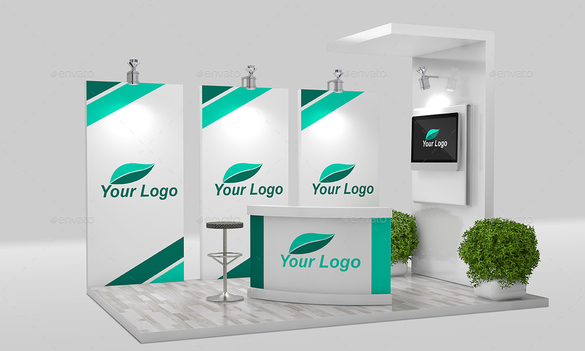 Exhibition Booth Mockup Free Download : Trade show booth mockup by sbcreation graphicriver