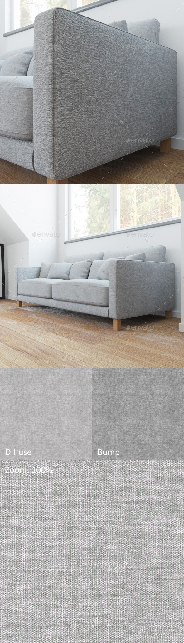 Linen naturaly seamless texture - 3DOcean Item for Sale