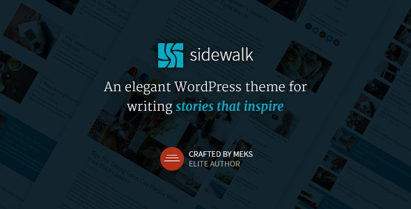 Sidewalk – Elegant Personal Blog WordPress Theme