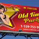 Retro Party Outdoor Banner 54