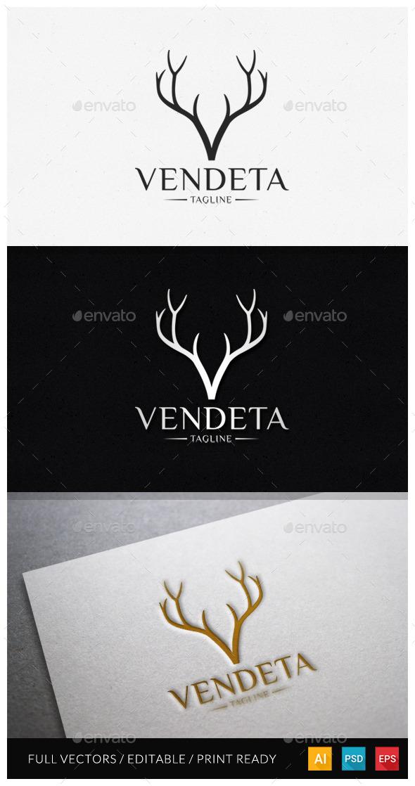 Vendeta - Letter V Logo Template - Letters Logo Templates