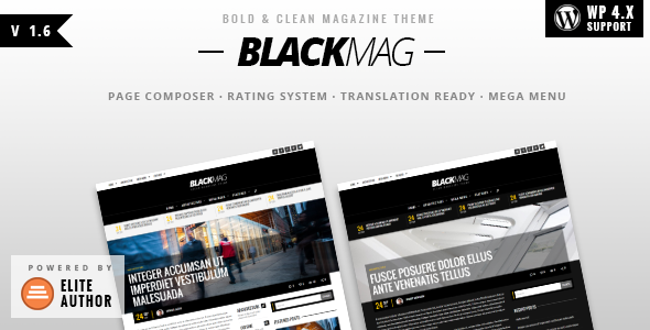 BLACKMAG – Bold & Clean Magazine Theme