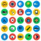 Computer Hardware Circle Icons