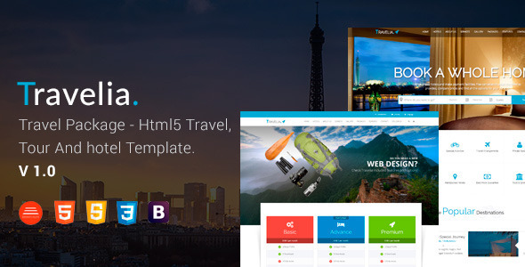 TRAVELIA – Travel Package HTML5 Template