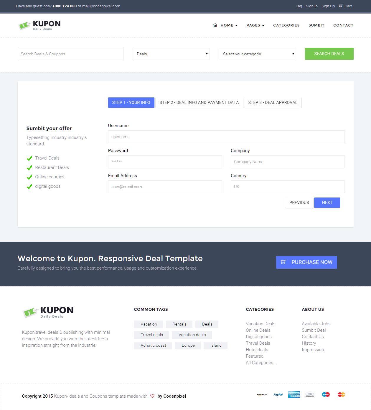 Kupon Deals Discounts Material Design