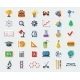 Flat School Icons - GraphicRiver Item for Sale