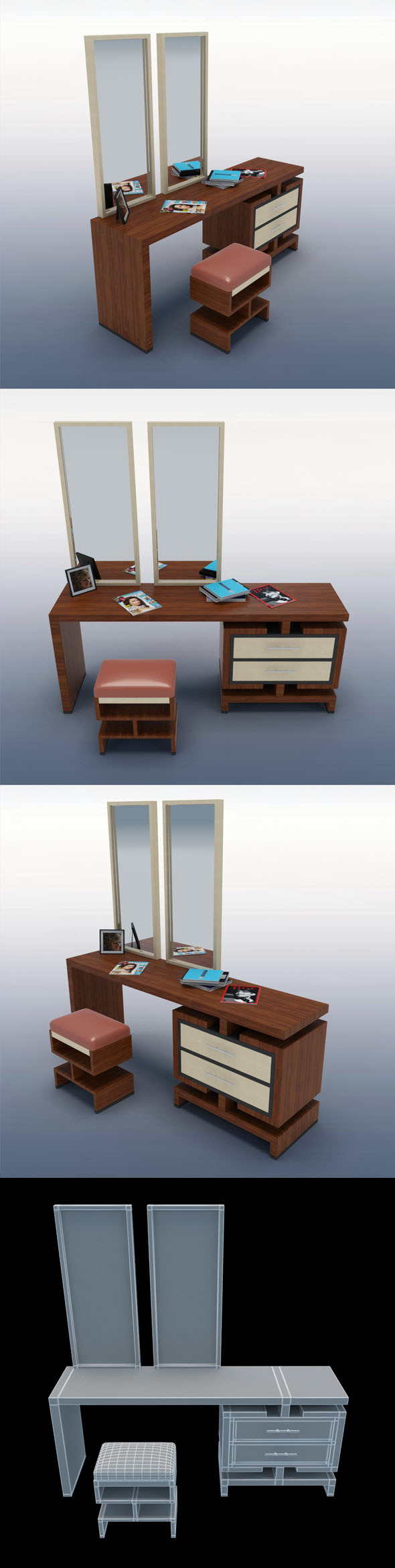 Dressing Table_4 - 3DOcean Item for Sale