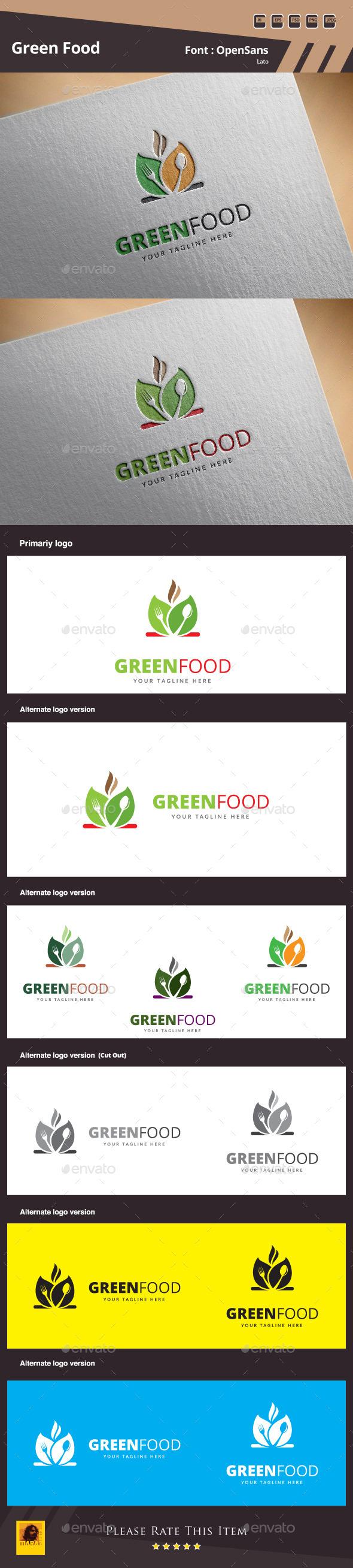 Green Food Logo Template - Food Logo Templates