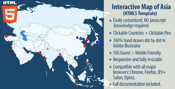 Interactive Map of Asia - CodeCanyon Item for Sale