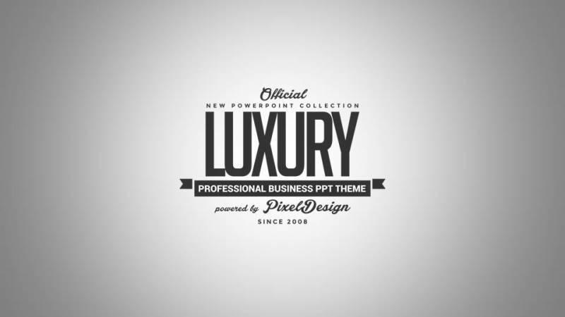 Luxury PowerPoint Theme Ver By VladAlexandru GraphicRiver - Luxury sales pitch template powerpoint scheme