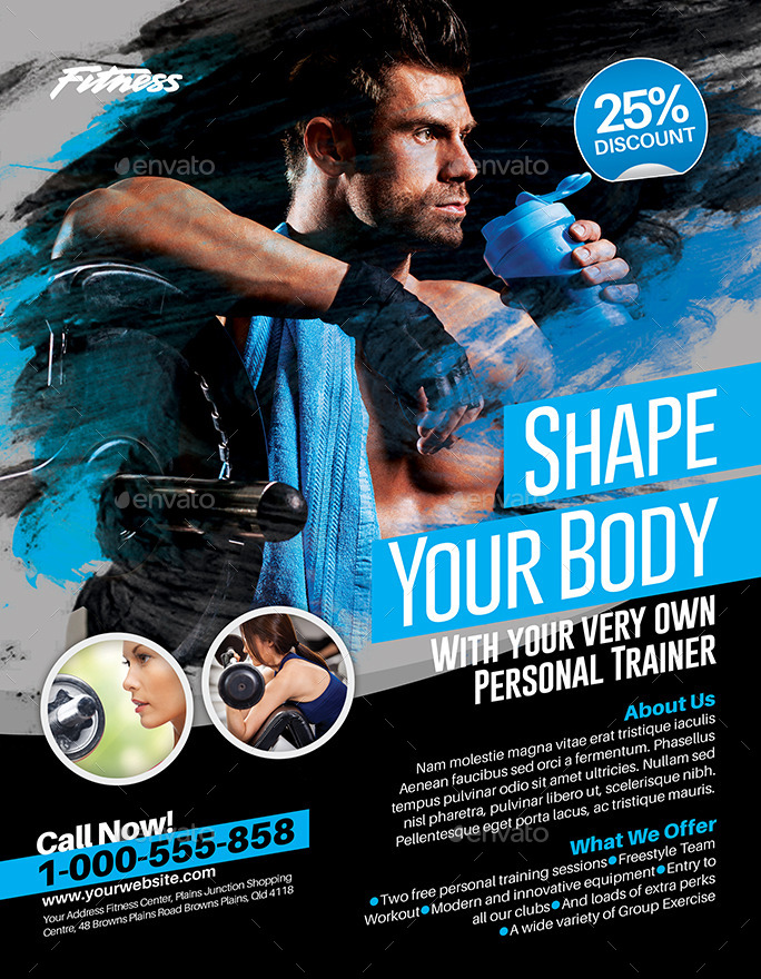 Fitness Flyer | Fitness Flyer By Inddesigner Graphicriver