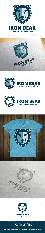 Iron Bear Logo Template  - Animals Logo Templates