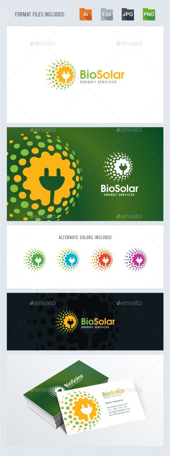 Bio Solar Energy Services - Symbols Logo Templates